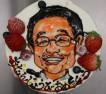 やつしろ様ご予約の似顔絵デコレーションケーキ。お誕生日おめでとうございます。