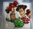 マツオ様よりご予約頂いたイラストデコレーションケーキ。お誕生日おめでとうございます。