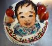 ご予約頂いた似顔絵デコレーションケーキ。 はるとくん1歳のお誕生日おめでとうございます。