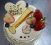 花田様ご予約のイラストデコレーションケーキ。こうが君お誕生日おめでとうございます。